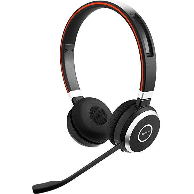 Jabra Evolve 65 UC Stereo Wireless Bluetooth Headset / Music Headphones Includes Link 360 (U.S. Retail Packaging) Profile Picture