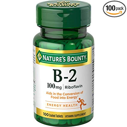 Nature's Bounty Vitamin B-2 100 mg, 100 Coated Tablets Profile Picture