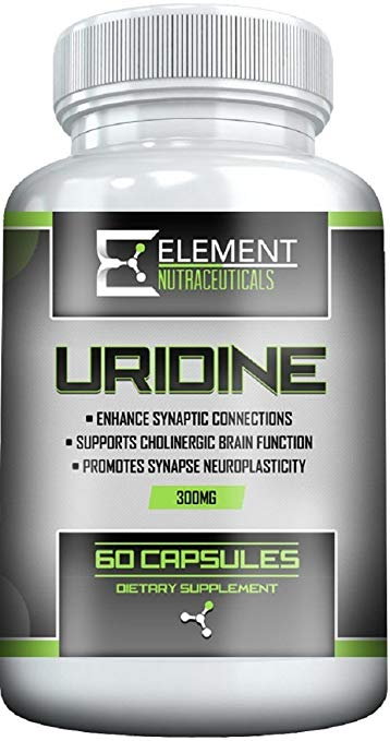 URIDINE MONOPHOSPHATE (300mg x 60 ct) by Element Nutraceuticals - Choline Enhancer, Supports Brain Health and Fuction Profile Picture